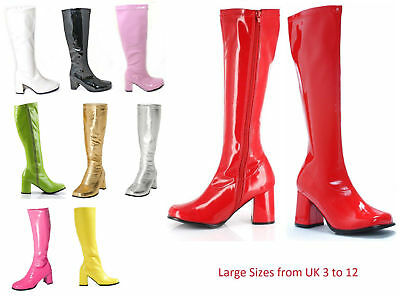 Womens Drag Queen Fancy Dress Party Funky GOGO Boots 1960 1970 Style UK 4 to 12