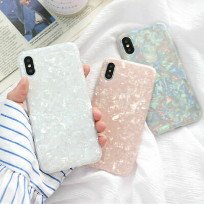 For iPhone 8 7 6s Plus X Luxury Marble Shockproof Silicone Protective Case Cover