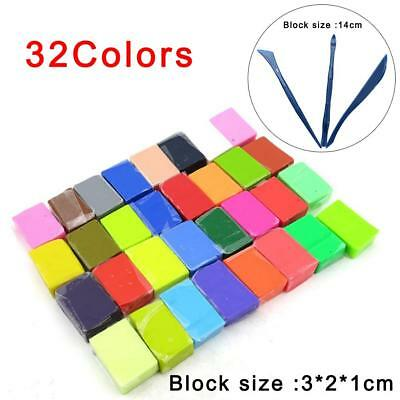 1/32Pcs Colorful Soft Polymer Plasticine Effect Clay Blocks DIY Educational Lot
