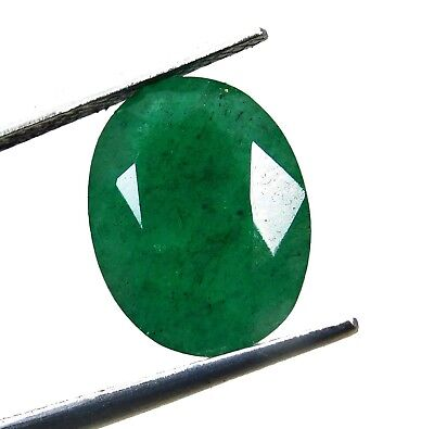 Natural 4.85 Ct Oval Cut Colombian Loose Emerald Gemstone.10844 qw