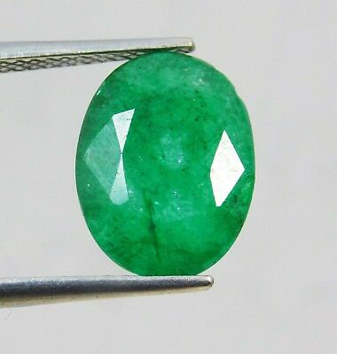 Natural 4.80 Ct Oval Cut Colombian Loose Emerald Gemstone. 11011 qw