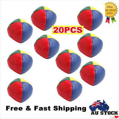 20 x PU Juggling Balls Classic Bean Bag Juggle Magic Circus Beginner  Kids Toy