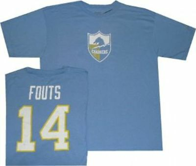 76c207c85 San Diego Chargers Dan Fouts Reebok Throwback Pro Style Oversized T Shirt