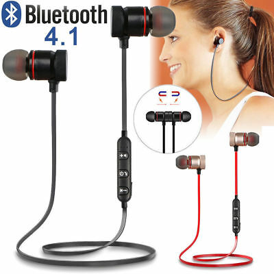 Sports In-Ear Wireless Earphones Bluetooth 4.2 Stereo Headphones Headsets W/ Mic