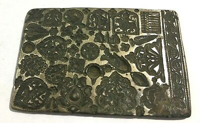 Antique Old Rarest Big Sized Bell Metal Die Seal  Jewelry Stamp Multiple Design