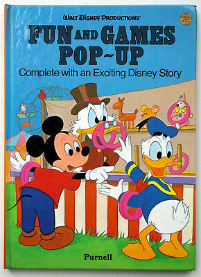 Walt Disney Productions` Fun and Games Pop-up, Donald, Micky Maus, 1983 Purnell