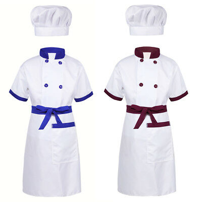 Kids Boys Girls Chef Cosplay Costume Party Halloween Fancy Dress Up