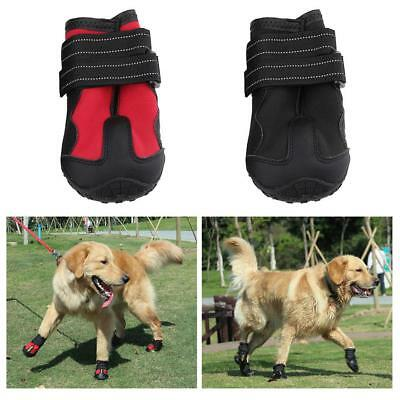 4pcs Dog Shoes Waterproof Small Medium Boots Snow Rain Anti-slip Puppy Booties
