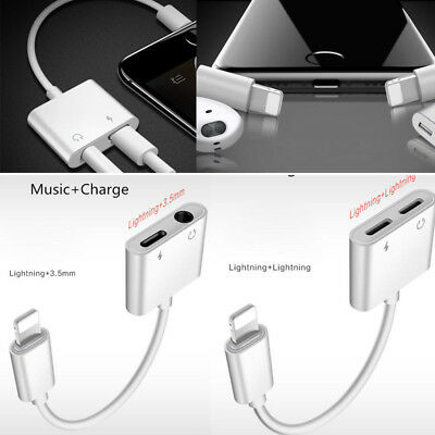 2in1 Lightning to 3.5mm / Lightning Headphone Jack Adapter iPhone Xs Max XR 7 8