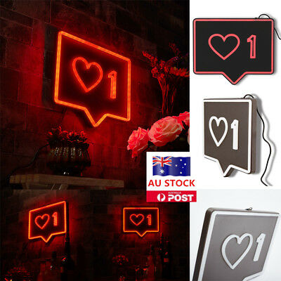 "AU Plug LED Neon Sign Bar Shop Wall Mounted Home Party Decor Lamp Size 12""x9"""