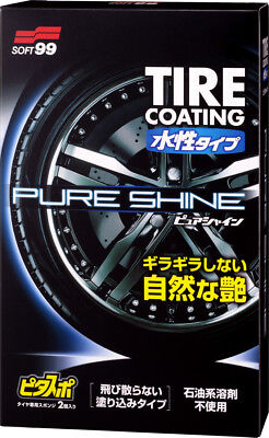 "Soft99 Car Water-Based Wax Tire HardCoat ""PURE SHINE"" Black Shine GlossJapan"