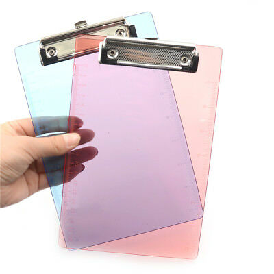 New Clipboard Plate Door Translucent Block Clip For Paper A5 Office#^