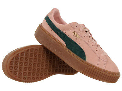 new arrival b87d7 8f39f WOMEN'S PUMA SUEDE Platform SD Pink Shoes Leather Upper Sneakers Iconic  Trainers
