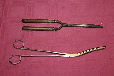 Interesting Pair Of Vintage Surgical SCISSORS And/Or Dental Forceps