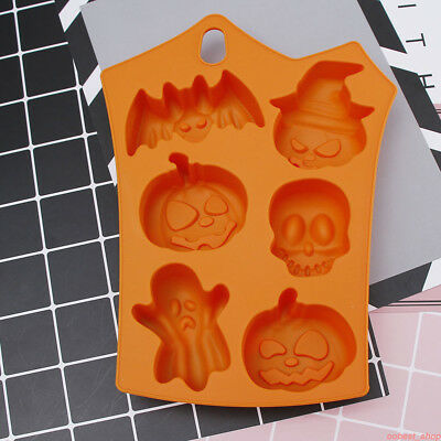 Happy Halloween Silicone Cupcake Mold Chocolate Cookie Baking Mould Pan Tools KZ