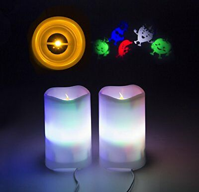 Shineart Flameless Candles with Remote Control - Timer LED Candle Projection 2 1