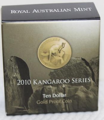 2010 Kangaroo Series $10 Gold Proof Coin - Yellow Footed Rock Wallaby 193/1500