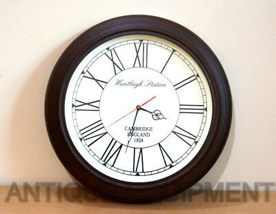 Antique Vintage Collectible Wooden 16 Inches Decorative Wall Clock Good Gift Itm