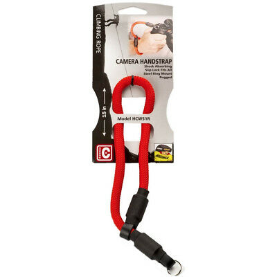 Hoodman Caruba Rope Style Wrist Hand Strap for DSLR or Mirrorless Camera RED