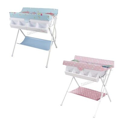 FoxHunter Foldable Baby Bath Changing Table Unit Infant Nursery Trays Rail BCT01