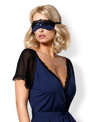 OBSESSIVE 825 Luxury Decorative Satin/Lace Tie Up Eye Mask