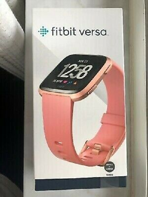 Fitbit B504RGPK Versa Smart Watch, Peach/Rose Gold