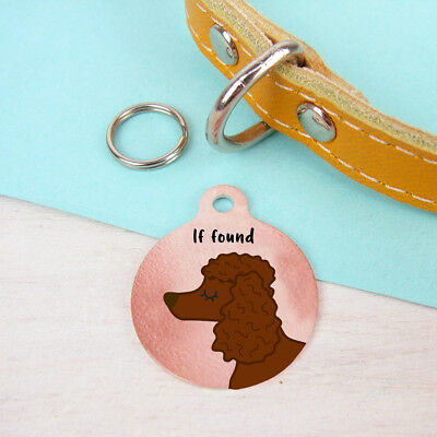 Poodle Custom Pet Tags Personalised Pet ID Dog Name Tags Unique Pet Tag Engraved