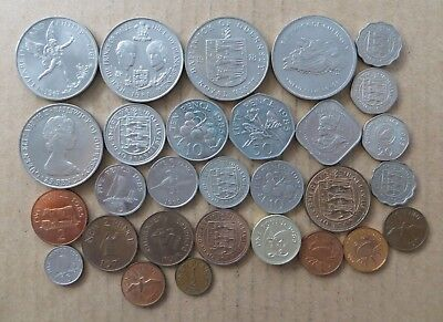 Collection of Guernsey Unc & Proof coins. 29 coins. JO-5864