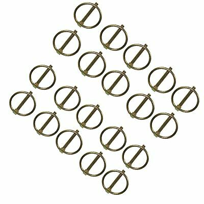 8mm Lynch Pins Clip Clamp (linchpin) Linkage Locking Pin 20pc Tractor Trailers