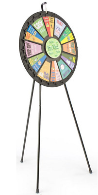 Adjustable Trade Show Booth Mini Party Raffle Prize Wheel - Floor or Countertop