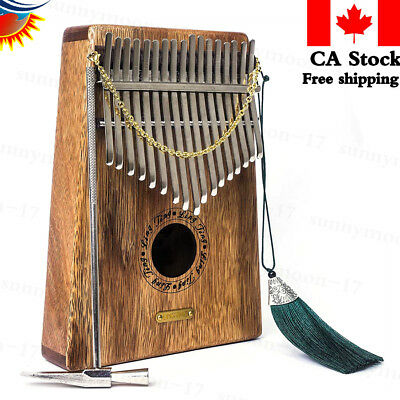 Kalimba 17 Keys Thumb Piano with Musical Instruction and Tuning Tool, Music Book