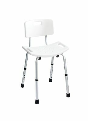 """Wenko """"Secura Bath Stool with Back Rest, Plastic, White ."""