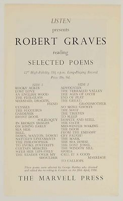Order form for Robert Graves Reading Selected Poems 1959 Poetry #149370