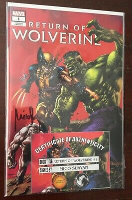 "Return Of Wolverine #1 Variant Suayan Trade ""signed""  X-Men X-23 Hulk 181"