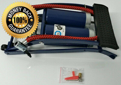 Roadster 5038673812052 Double Cylinder Foot Pump with Pressure Gauge for...