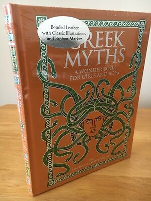 Grecian Myths Leather Bound Book