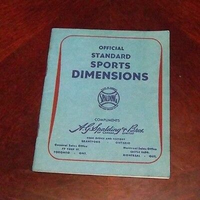 Spalding Official Standard Sports Dimentions