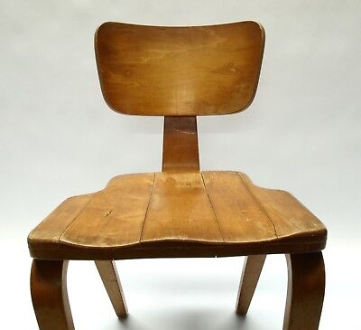 Vintage Modern Thonet Chair of Rock Maple and Bentwood