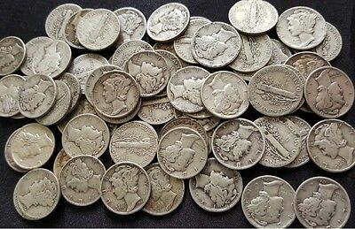 (3) DIFFERENT 90% Silver Mercury Dimes from Old Estate hoard ✯ 1916-1945 ✯
