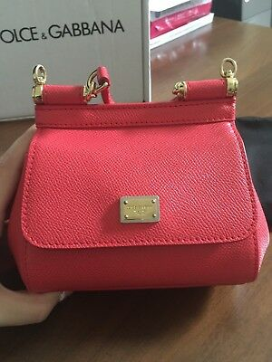 4ad73a678f Dolce Gabbana Mini Miss Sicily crossbody bag with mirror in red dauphine  leather