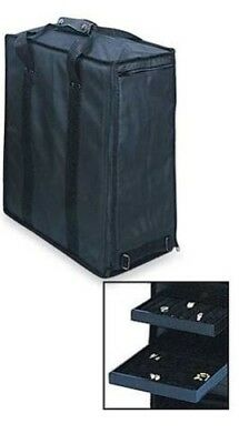 Travel Salesman Jewelry Carrying Case with 17 Trays