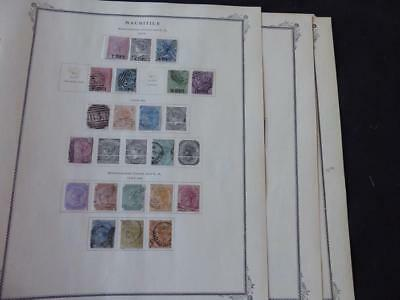 Mauritius 1878-1877 Mint/Used Stamp Collection on Scott Specialty Album Pages