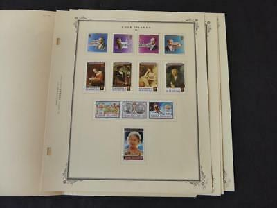 Cook Islands 1990 Mint Stamp Collection on Scott Specialty Album Pages