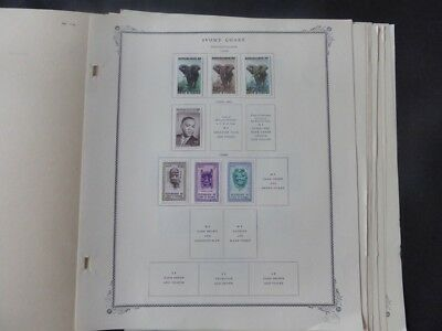 Ivory Coast 1959-1967 Stamp Collection on Scott Specialty Album Pages​