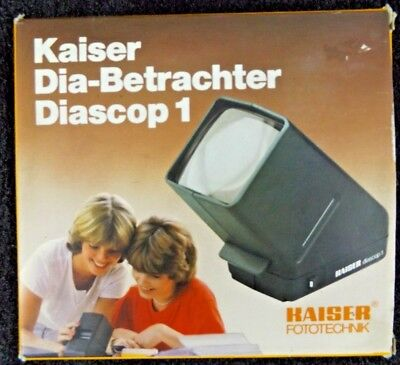 Kaiser Dia-Betrachter Diascop 1 Slide Viewer Tested Works in Original Box