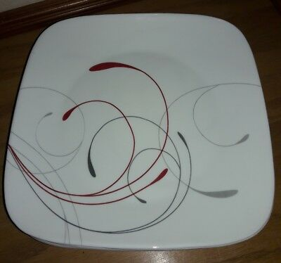 CORELLE HEARTHSTONE STONEWARE Set Of 6 Dinner Plates Chili Red 11 1 ...