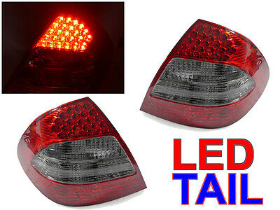 USA DEPO AMG Red/Smoke LED Tail Light For 2003-06 Mercedes W211 E Class 4D Sedan
