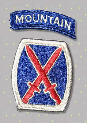 10th Mountain Division Patch and Tab 1985 Military Surplus mint condition