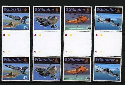 Royal Air Force Squadrons mnh set of 4 gutter pairs 2012 Gibraltar #1329-32