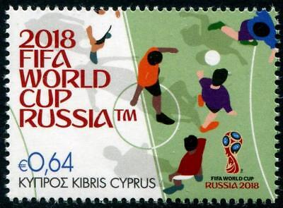 World Cup Soccer Russia 2018 mnh stamp Cyprus Football FIFA